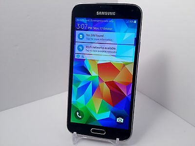 Samsung Galaxy S5 SM-G900V  16GB  Charcoal Black (Verizon) Smartphone (B8)