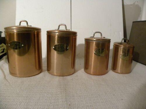 Vintage Copper De La Quisine Canister Set