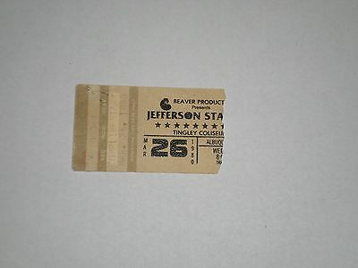 "Jefferson Starship Concert Ticket Stub-1980-Freedom At Point Zero Tour-""Jane""-NM"