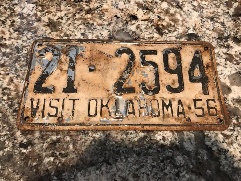 1958 Oklahoma License Plate 21 2594