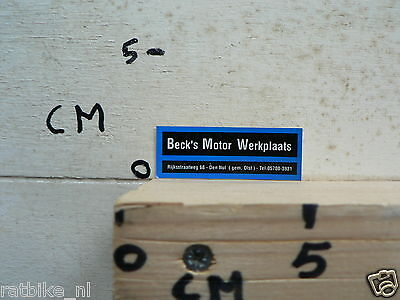 STICKER,DECAL BECK'S MOTOR WERKPLAATS MOTO ?