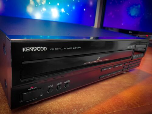 KENWOOD LVD-280 🔥MINT🔥 Laser Disc Player Remote Control Included