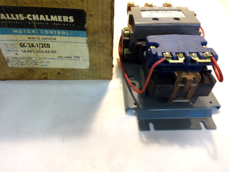 NEW IN BOX ALLIS CHALMERS GC-3A-1/2CO P/N 14-862-053-04-101 MOTOR STARTER SIZE 3