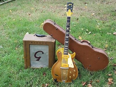 Vintage Original 1952 Gibson Les Paul Gold Top Guitar & 1946 Gibson BR-1 Amp!