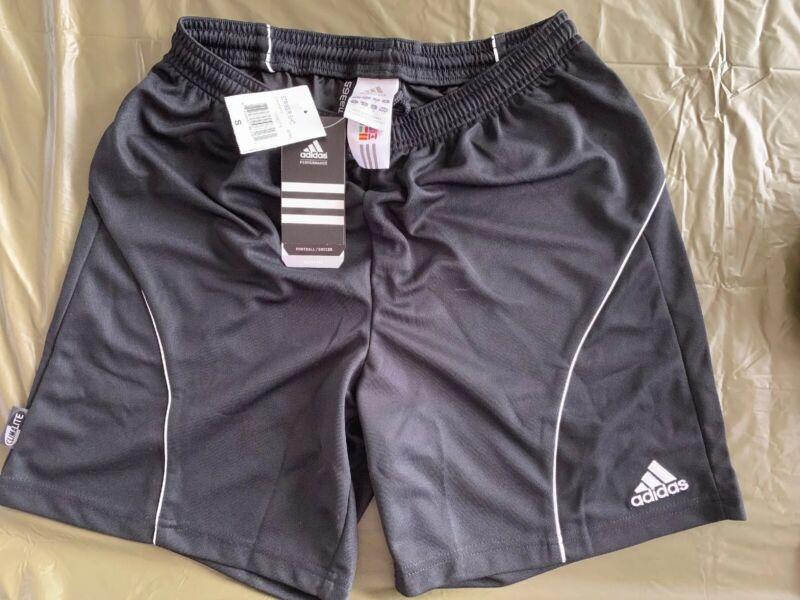 $35 NEW ADIDAS  BLACK FOOTBALL/SOCCER CLIMA 365 SHORTS ADULT SMALL GYM