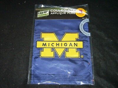 Applique University Of Michigan Garden Flag, 12.5 x 18 inches