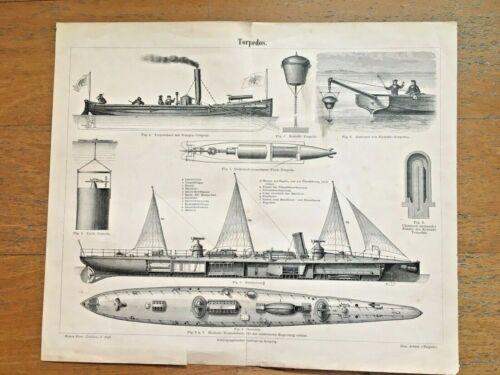 👍 ORIGINAL 1887 QING CHINA BEIYANG TORPEDO BOAT BLUEPRINT FROM GERMANY大清北洋鱼雷艇