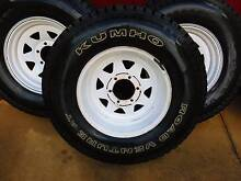 "4  16"" Sunraysia 6 Stud 4WD Wheels with near new Kuhmo Tyres Rose Park Burnside Area Preview"