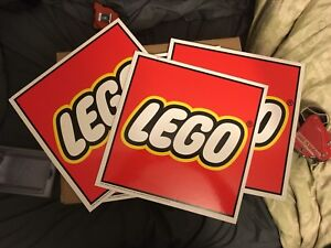 LEGO display signs from store - $30