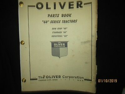 Oliver White Cockshutt 60 Series Tractors Parts Catalog Book Manual Original