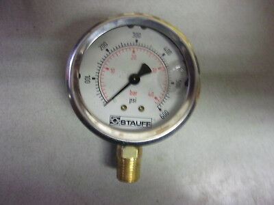 Stauff Oil Filled Pressure Gauge 0-100 Psi Free Shipping