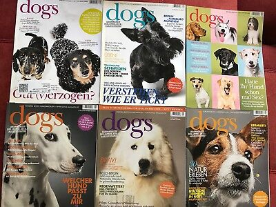 """6 Hefte """"Dogs""""Hundemagazin"""