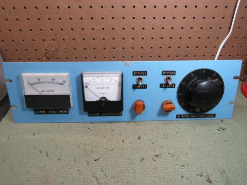 Vintage Powerstat Model 20 Rack Mount Power Meter Setup