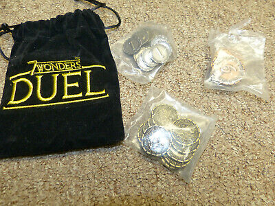 7 Wonders Duel - Metal Coins & Metal Conflict Token Promo/Expansion - New!