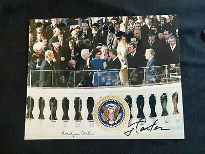 JIMMY CARTER AND ROSALYNN SIGNED ORIGINAL COA AUTOGRAPHED