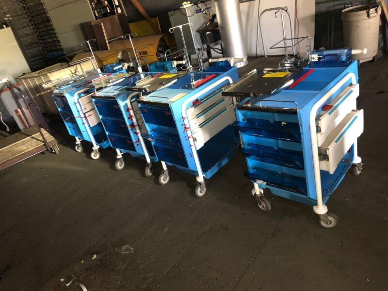 Metro Lifeline Code Response Crash Cart Hospital Medical Procedure Cabinet Stand