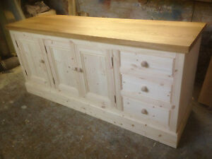 BESPOKE-HANDMADE-PINE-KITCHEN-STORAGE-UNIT-with-SOLID-OAK-TOP-38mm