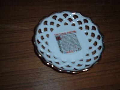 (Lord's Prayer Pierced Saucer Plate JAPAN)