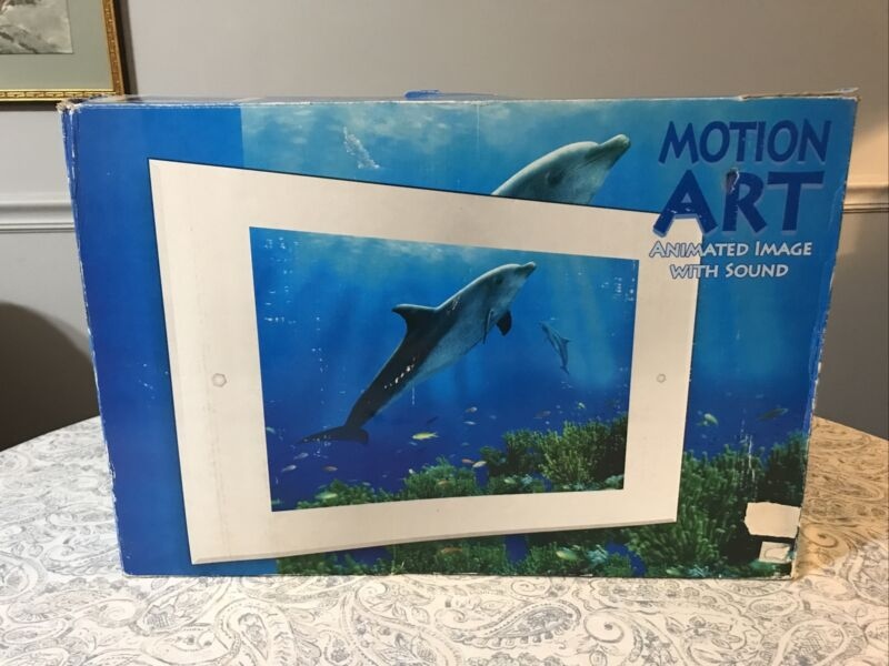 Vintage Motion Art Animated Image W/ Sound Dolphins Underwater Electric picture