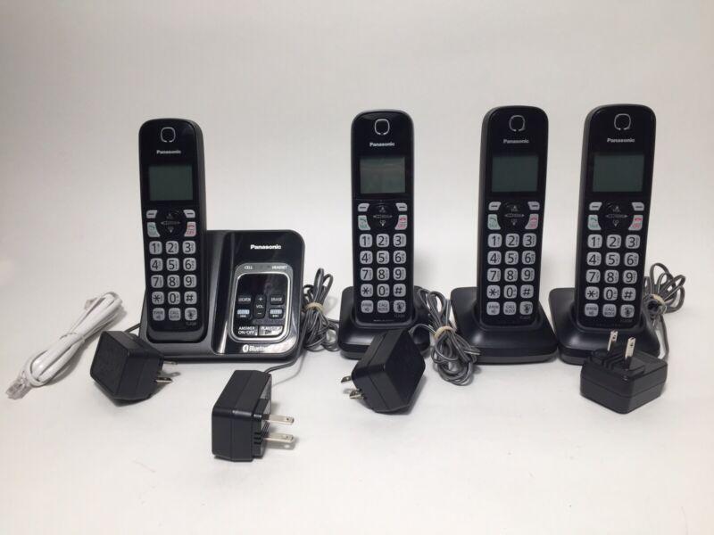 Panasonic KX-TGD560 Bluetooth Cordless Phone 4 Handset System Works