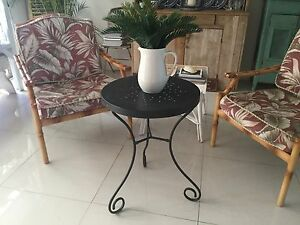 Black bedside or wine table metal Burleigh Waters Gold Coast South Preview