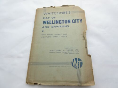 Whitcombe and Tombs Map of Wellington City and Environs 1940 - RARE