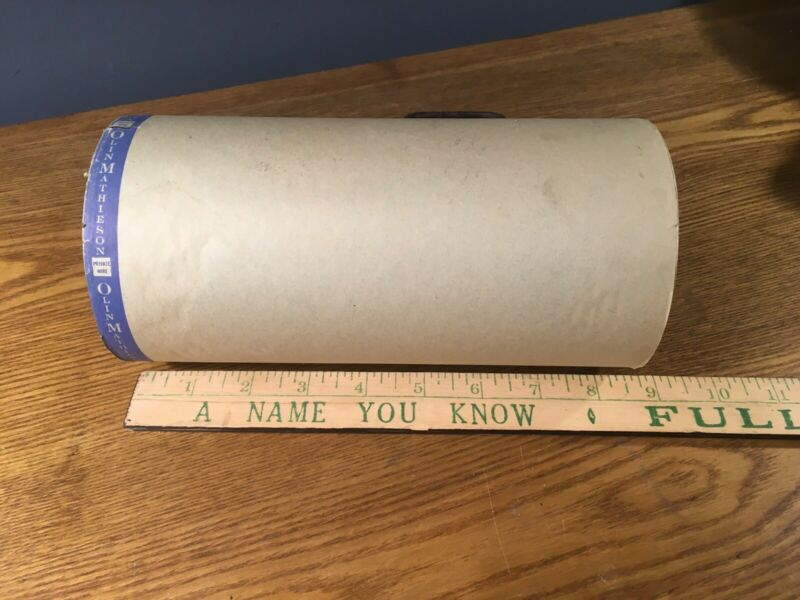 "Vintage OLIN MATHIESON PRIVATE WIRE Telegraph Paper Roll  8 1/2"" Wide RARE FIND!"