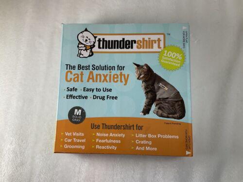 GENUINE ThunderShirt Cat Anxiety Jacket MEDIUM Gray Feline 9-13 Lbs FREESHIPPING - $14.95
