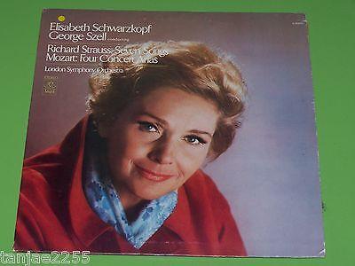 Strauss Mozart - Schwarzkopf Szell - 7 Songs / 4 Concert Arias - Angel LP