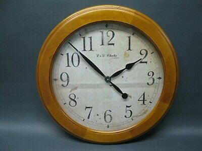 Large Wood Wooden Wall Clock 51 cm Nostalgic Clock Antique Style
