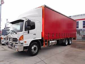 2011 Hino 500 Series GH 1728 14 Pallet Curtainsider 9 speed Old Guildford Fairfield Area Preview