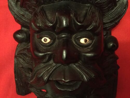 "10.5"" Vintage Asian Chinese Emperor & Dragons Hand Carved mask"
