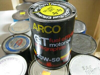 VINTAGE OIL CAN COLLECTION SELL OUT FREE SHIPPING Arco