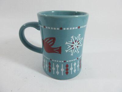 PEET's Coffee & Tea Holiday Christmas Winter 16 oz Mug Snowflakes Doves Birds