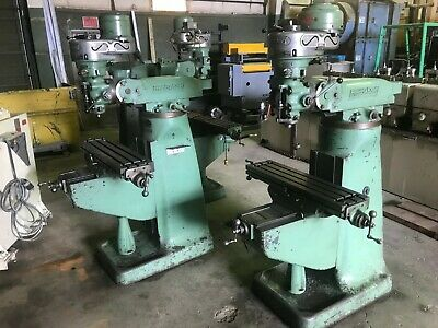 1 Hp Bridgeport Mill 5 Quill Travel R-8 Taper 42 X 9 Table 8 Speeds 80 2720
