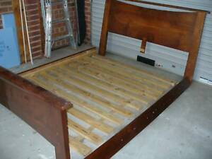 Qeen size slat bed in good order (Pending)