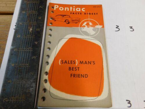 1957 PONTIAC FACTS DIGEST    DEALER USE ORIGINAL IIII