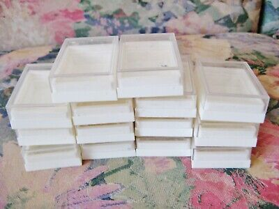 Large Lot Small Vintage Plastic Presentation Boxes 2 Piece For Jewelry