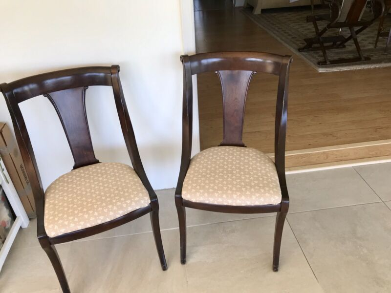 Pair of Vintage/Antique Mahogany Dining Room Side Chairs 1930