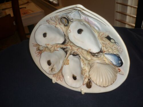 ANTIQUE UNION PORCELAIN WORKS/UPW OYSTER PLATE.  SMALL CLAM SHAPE 2 OF 2