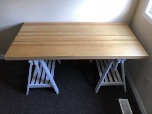 IKEA FINNVARD Trestle x 2 with table top