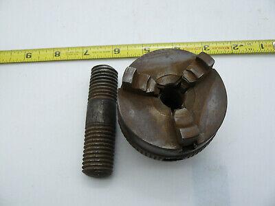 D. E. Whiton 2 58 3 Jaw Mini Lathe Chuck 78 Inch Thread 9 Per Inch Vintage Z