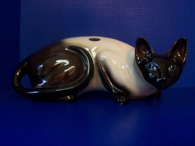 Coopercraft - Large Porcelain Siamese Cat - Made in England