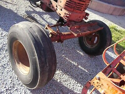 Farmall Ih 400 450 Tractor Wide Frontend Widefront 10.00 X 16 Float Tires Wghbar