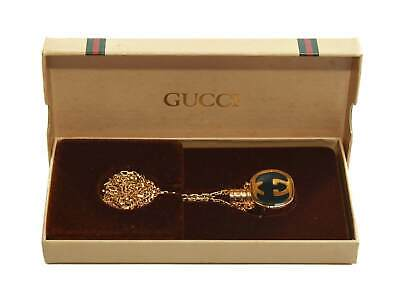 Authentic Vintage GUCCI Perfume Bottle Necklace In Original Box