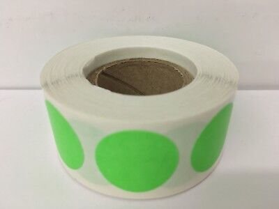 500 Labels Round 2 Inch Bright Green Color Coding Coded Inventory Sticker Dot