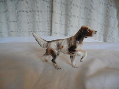 Vintage pointer porcelain hunting dog figure Japan