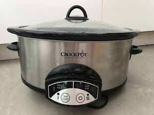 Crock pot 6Qt. Slow cooker with digital buttons