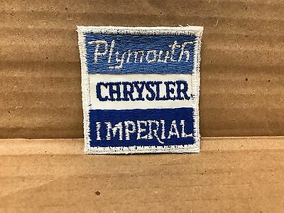 """VINTAGE ORIGINAL 1960'S EMBROIDERED PLYMOUTH CHRYSLER IMPERIAL PATCH 2.5"""" X 2.5"""""""