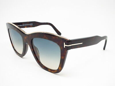 5b9c7afe21 New Authentic Tom Ford TF 685 Julie 52P Dark Havana w Green Gradient  Sunglasses